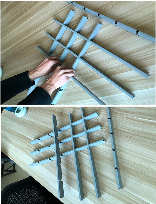 铝格栅安装步骤