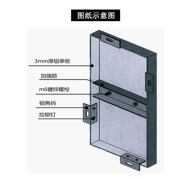 铝单板示意图